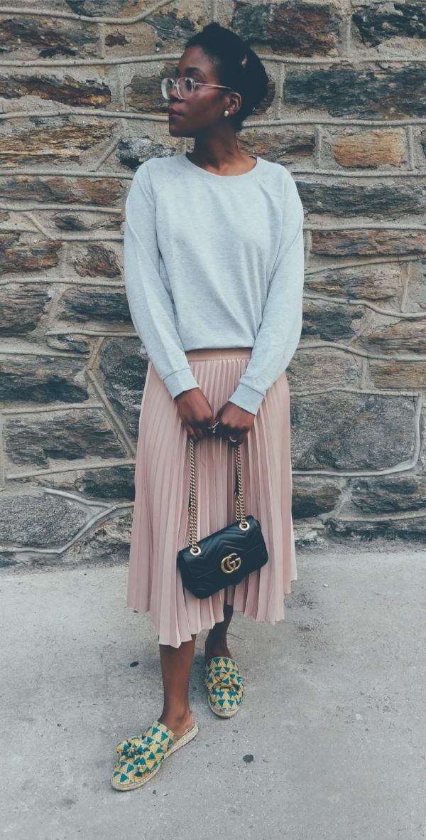 Pink Pleated Skirt Look sideways.jpg