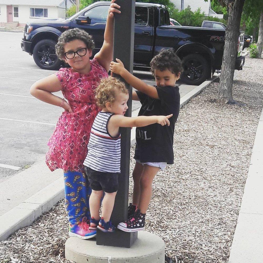 Three of Sylvia's four cuties: Ari (6), Adlai (4) and Avi (2).
