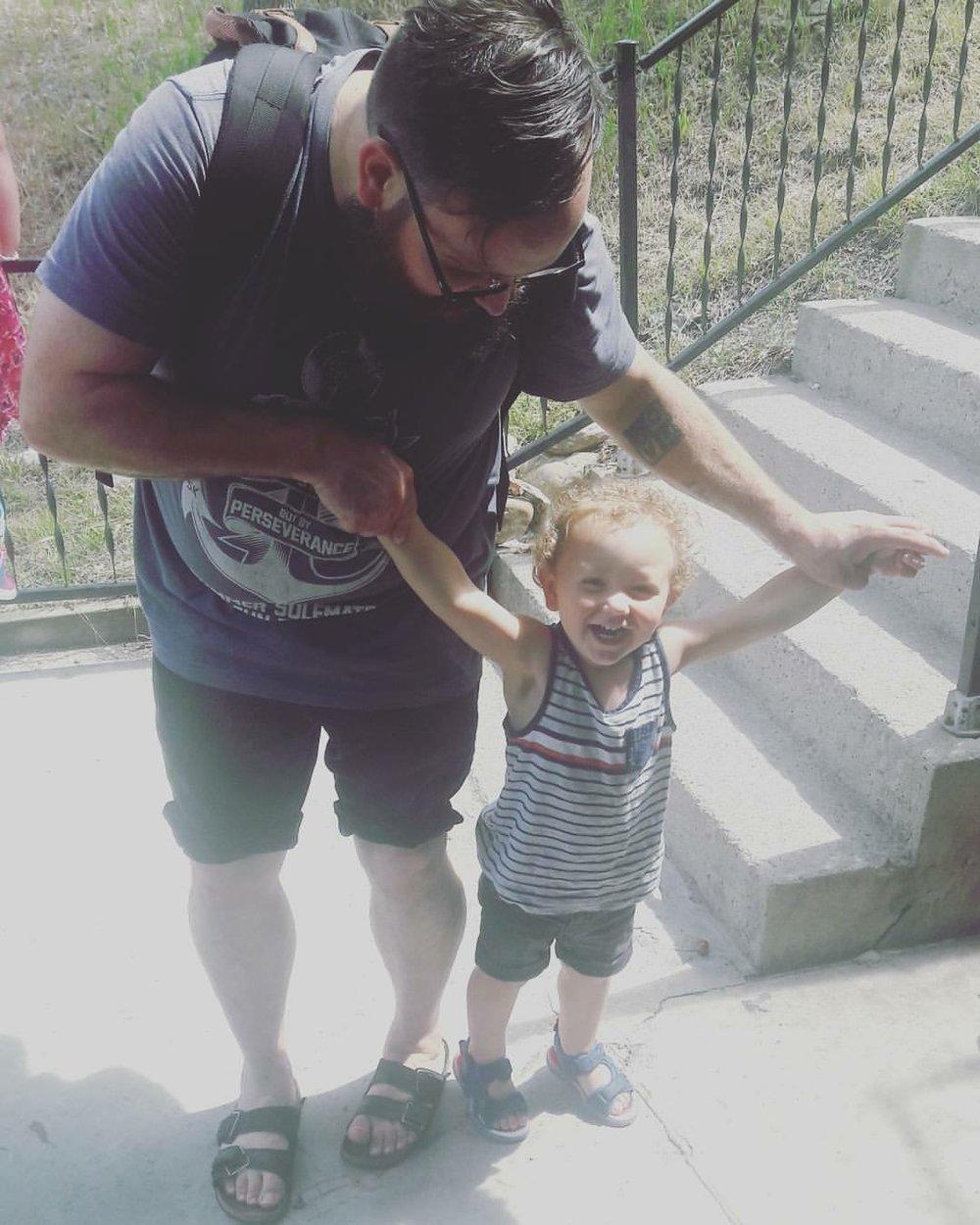 Sylvia's husband with son Avi (2)