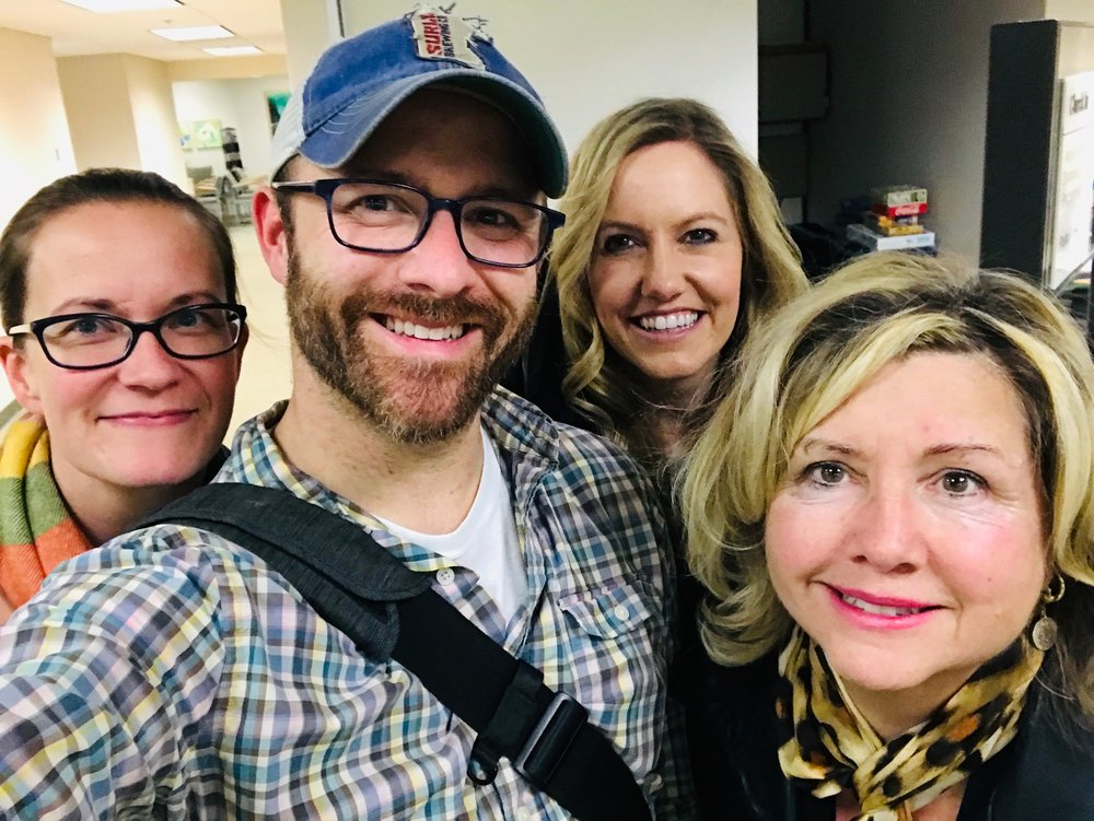 You know a dude is a good dude when his ex-wife, his girlfriend and his mother take a smiling selfie with him after his first oncology meeting.
