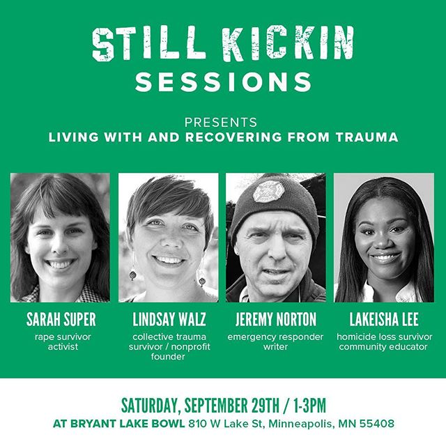 Here at Still Kickin, we know that life's worst moments have the ability to connect people in the most profound ways. These experiences expose a layer of vulnerability and humanity that drive change and expand our capacity for compassion.⠀ ⠀ Join us for a discussion about how trauma and PTSD impacts our lives and our communities at our upcoming Still Kickin Sessions event. Our panelists have experienced trauma and PTSD. They've also experienced continued recovery, and in that recovery they've found ways to educate and empower their communities to talk about this often-neglected topic.⠀ ⠀ Click the link in our bio for tickets!⠀ ⠀ #stillkickin