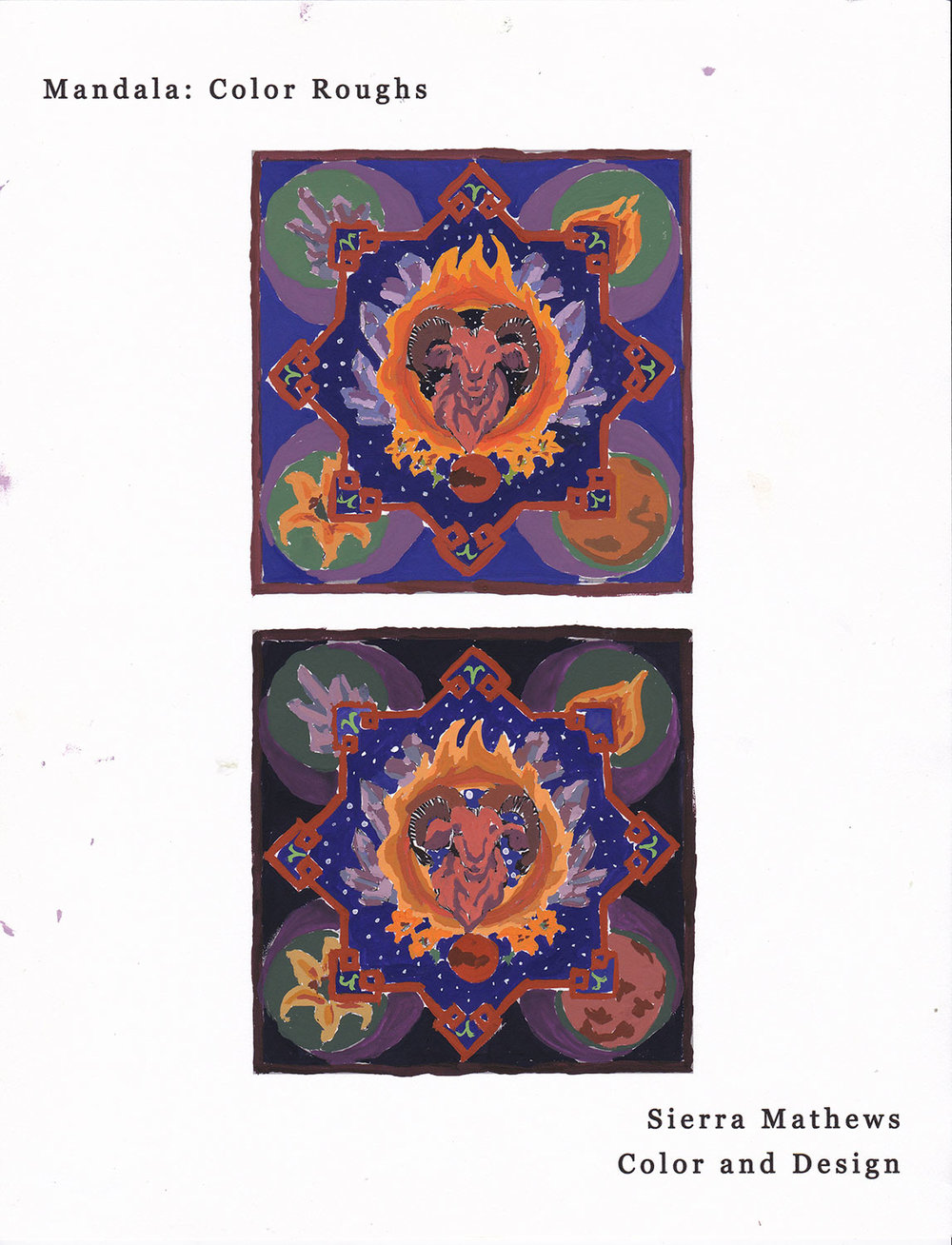 Mandala: Color Roughs