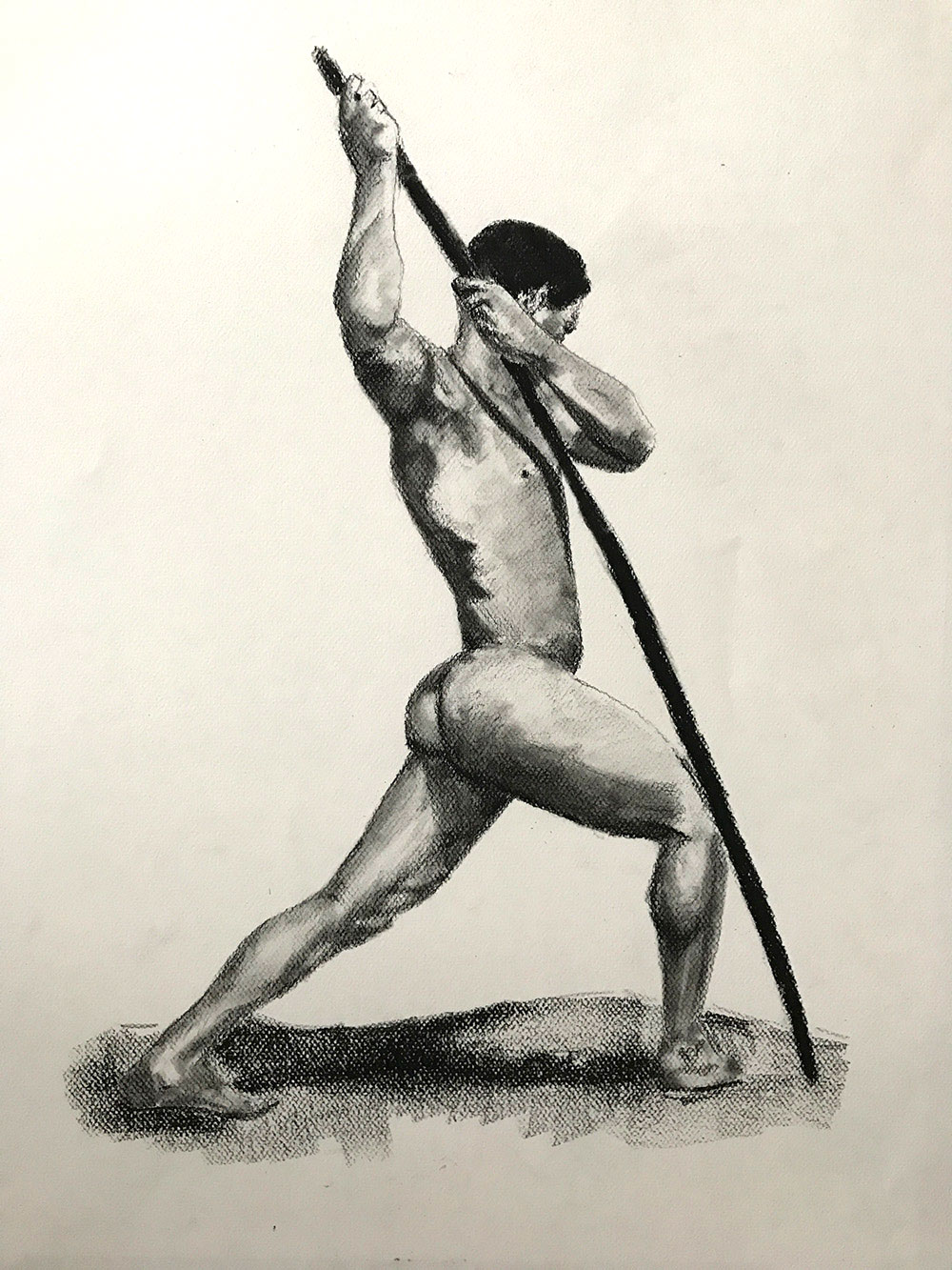 Male Nude Figure Study - Final