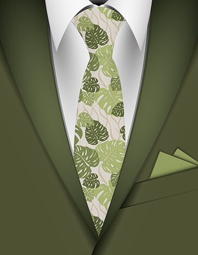 Cliff Hanger Hawaiian Necktie