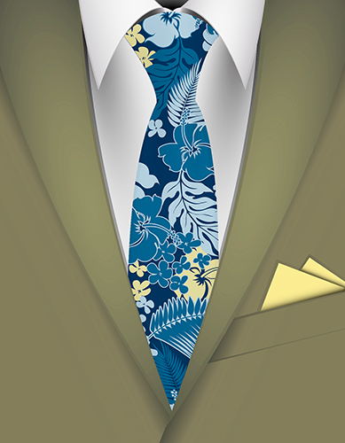 Kona Bay Hawaiian Necktie