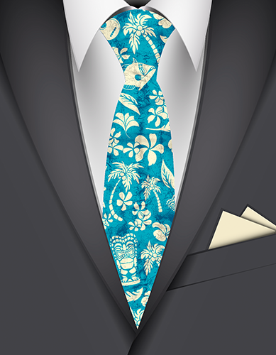 Makapuu Beach Hawaiian Necktie
