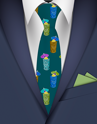Tiki Drinks Hawaiian Necktie