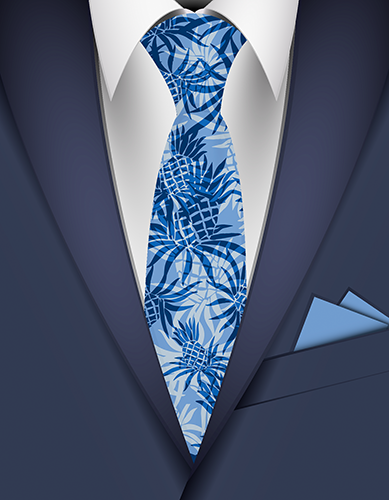 Pineapple Camo Hawaiian Necktie