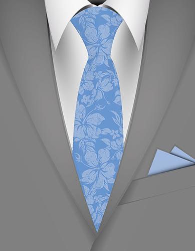 Hibiscus Pareau Hawaiian Necktie
