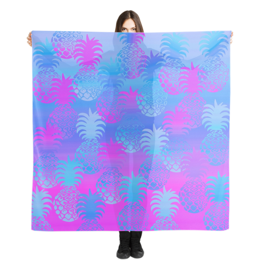 Pukana Pineapple Scarf in Violet
