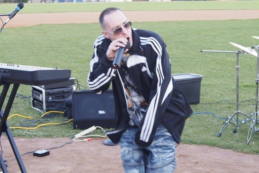 Rap artist Ben Real rapped a song about heaven and I invited the whole crowd to come down and take a victory lap around the bases!  His song will be playing in our ears for a long time to come!