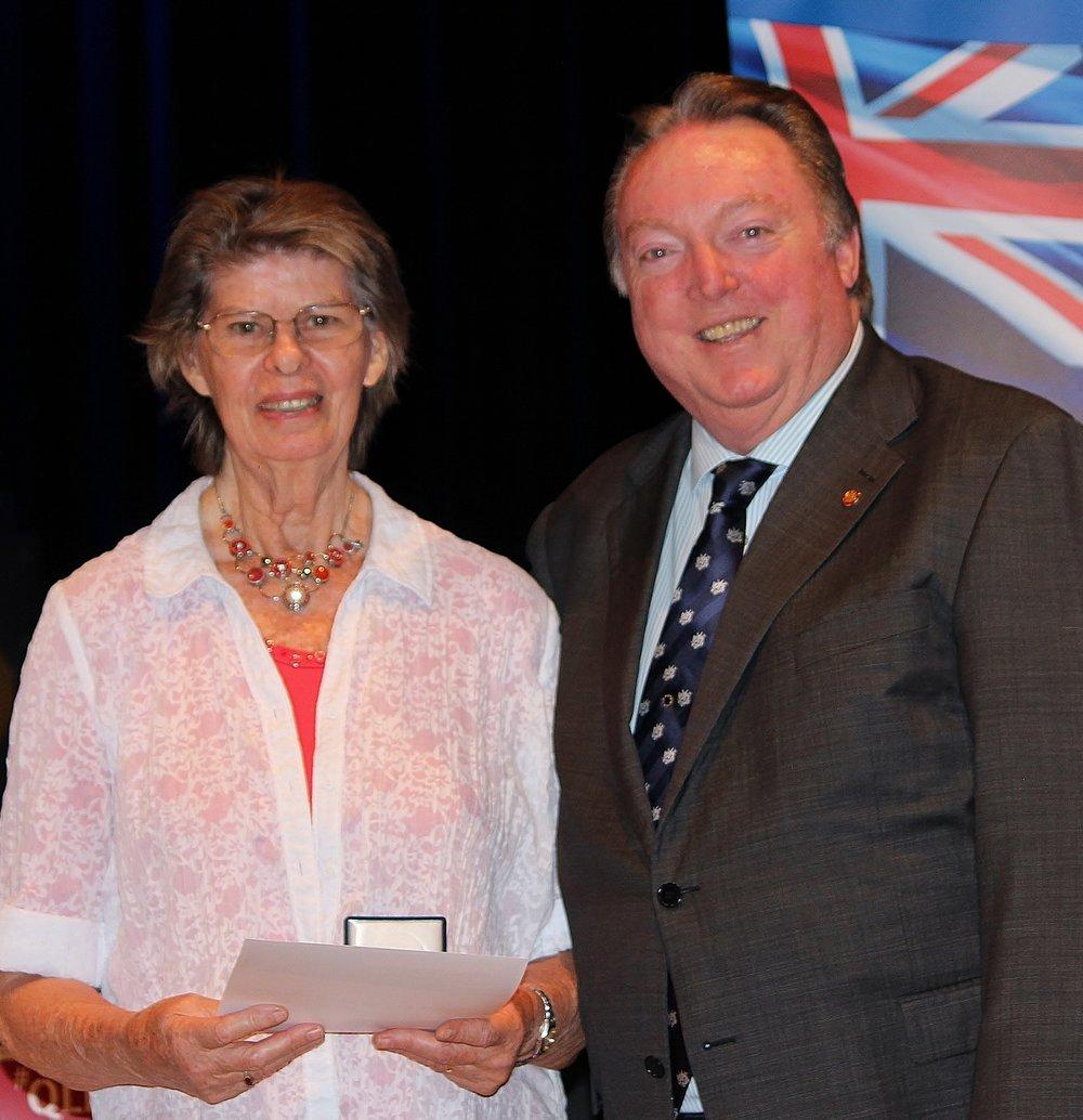 Henriette Sundermeijer celebrating her award with Glen Elmes (1).jpg