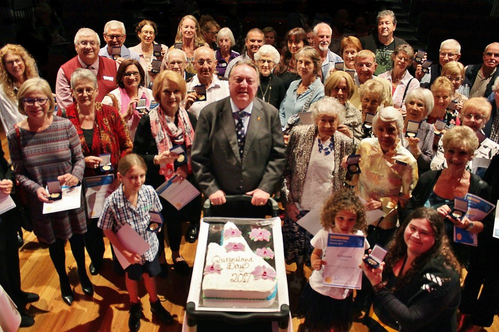 Some of the 55 Qld Day award winners at The J - June 5, 2017.jpg