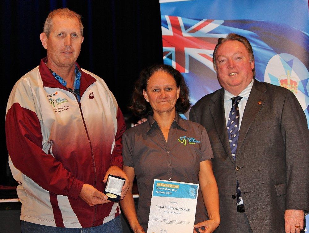 Michael and Val Hooper celebrating their award with Glen Elmes (1).jpg