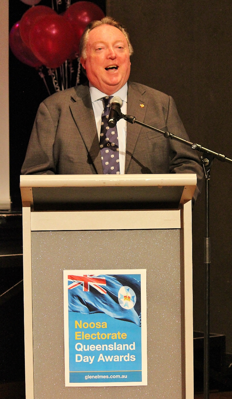 Glen Elmes welcomes everyone at The J to the 2017 Noosa Electorate Qld Day Awards for 2017 (1).jpg