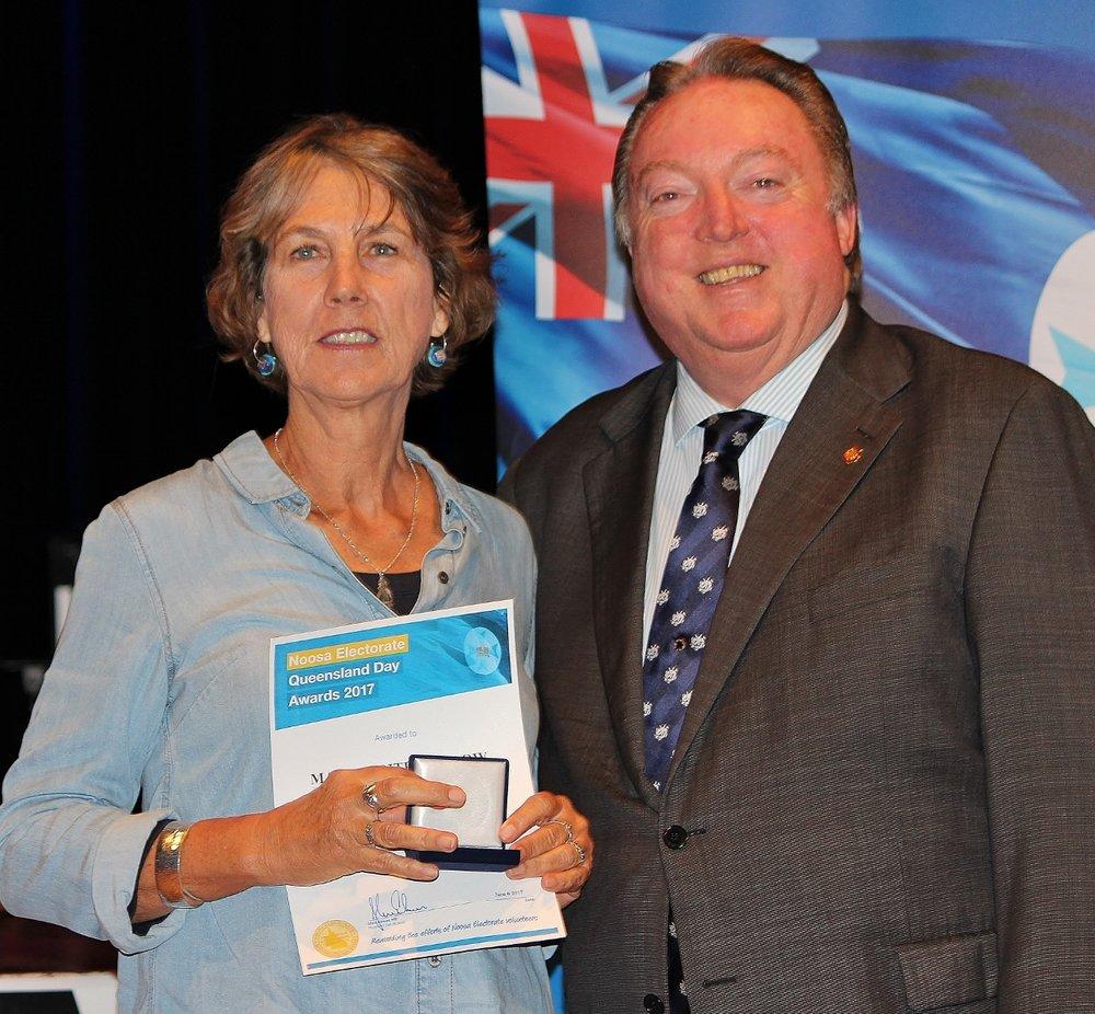 Marguerite Hondow celebrates her award with Glen Elmes (1) - Copy.jpg