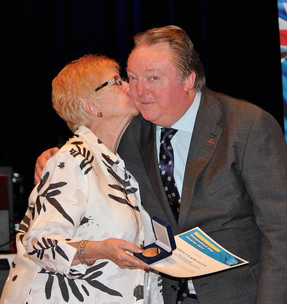 Carolyn Kruger celebrating her award with Glen Elmes at The J (4) - Copy.jpg