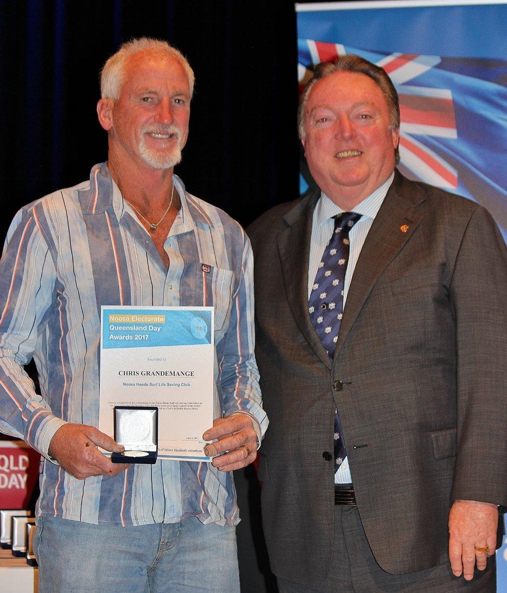 Chris Grandemange celebrating his award with Glen Elmes (1).jpg