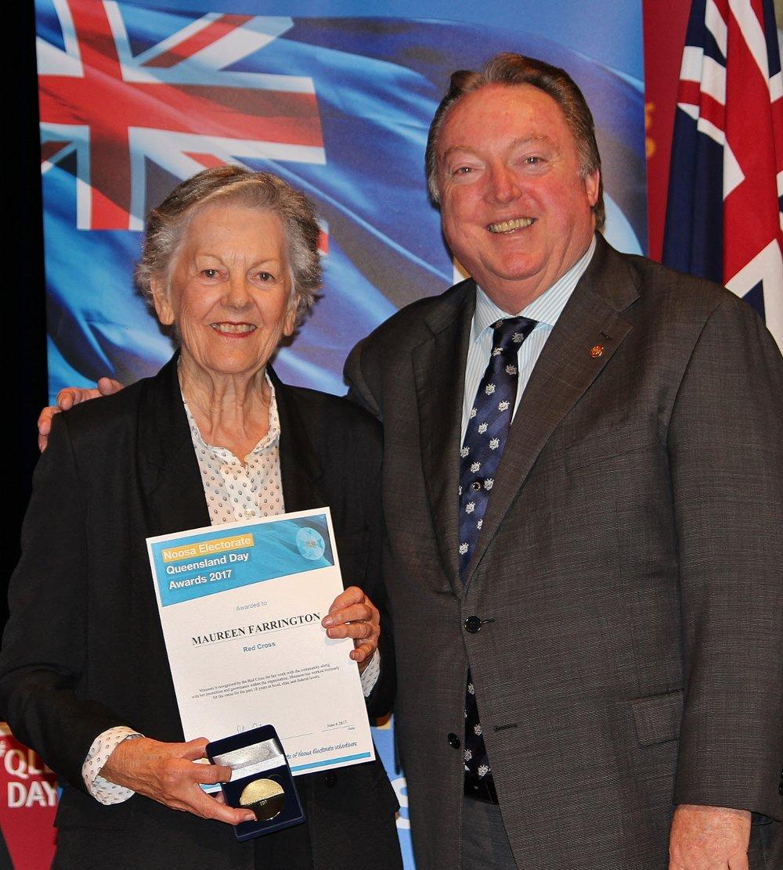 Maureen Farrington celebrates her award with Glen Elmes (1).jpg