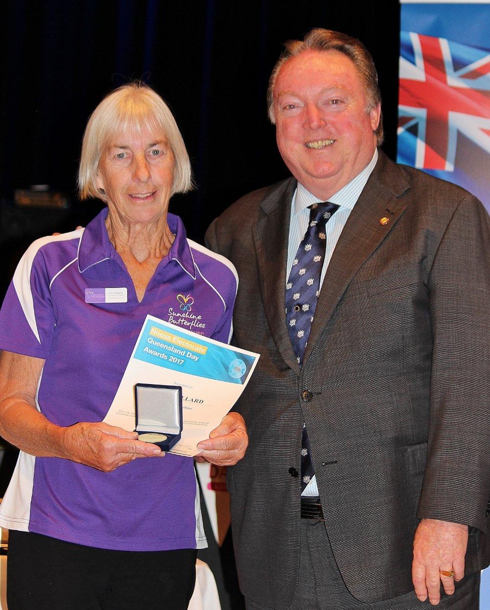 Chris Gillard celebrating her award with Glen Elmes.jpg