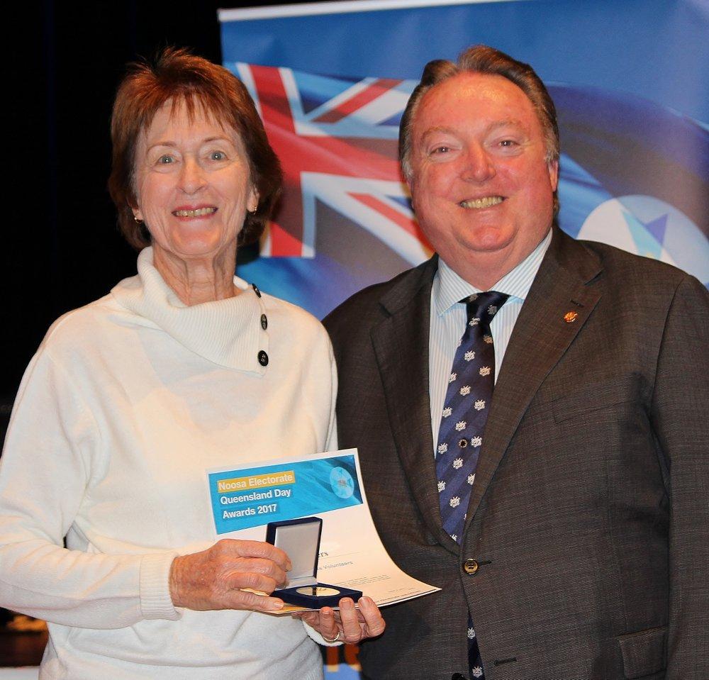 Lois Waters celebrates her award with Glen Elmes (1).jpg