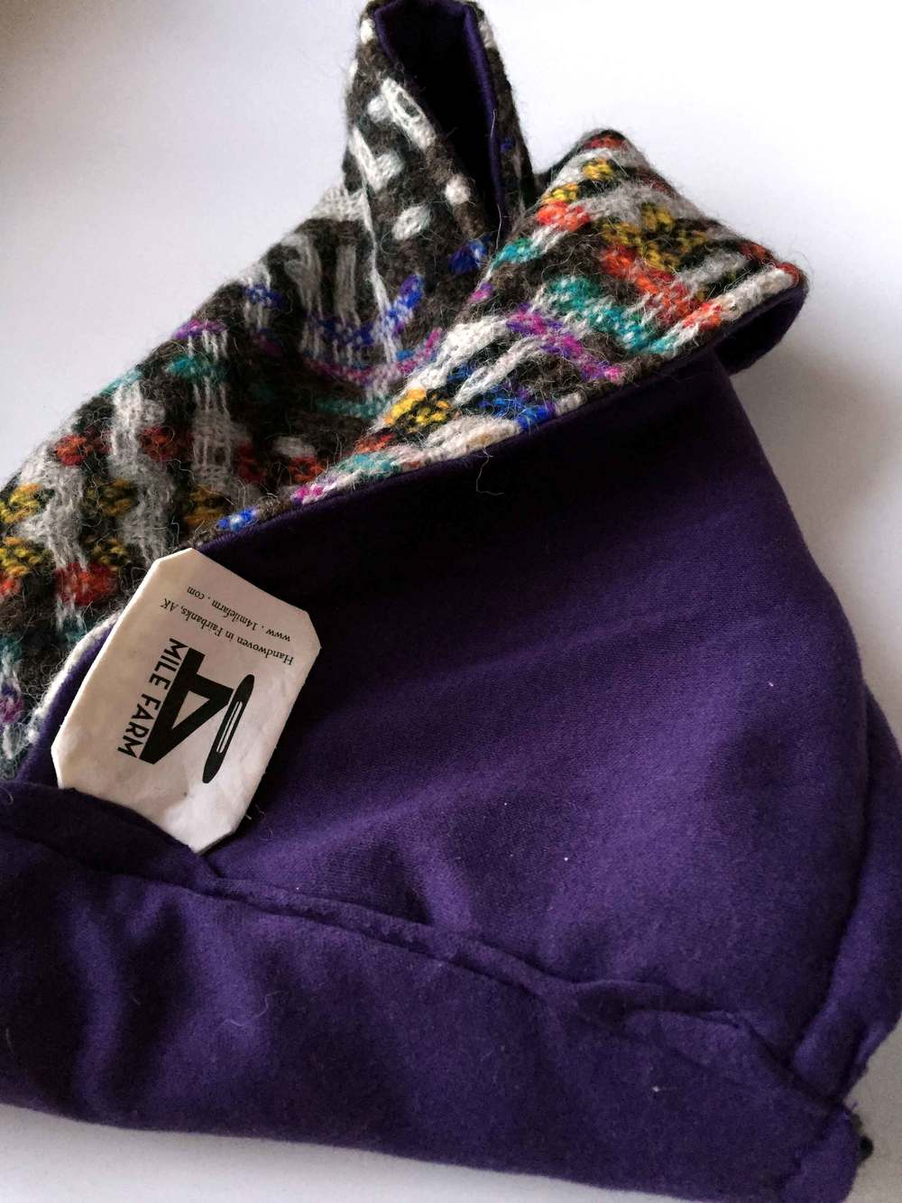 Doubleweave Alpaca Cowl | 14 Mile Farm Handwoven Babywearing Wraps and Heirloom Textiles