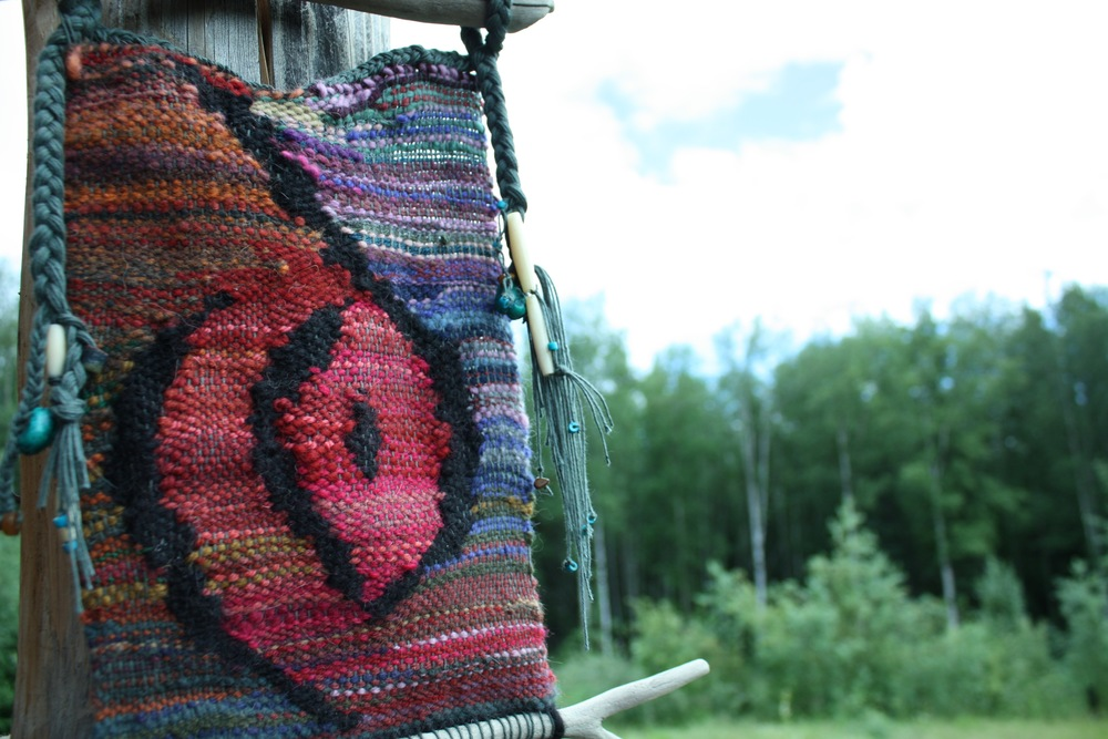 """Wombsight"" a tapestry handwoven by 14 Mile Farm"