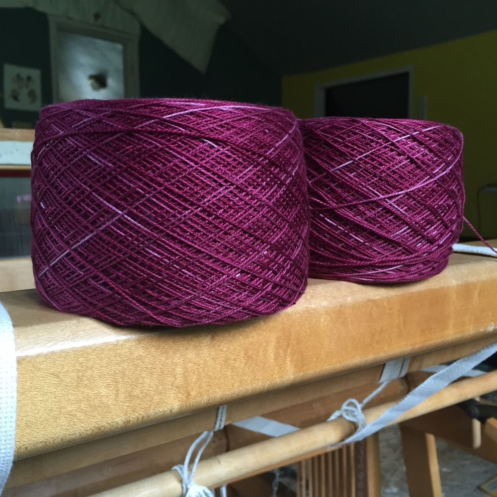 Hand dyed yarn | 14 Mile Farm Handweaving and Homesteading in Alaska