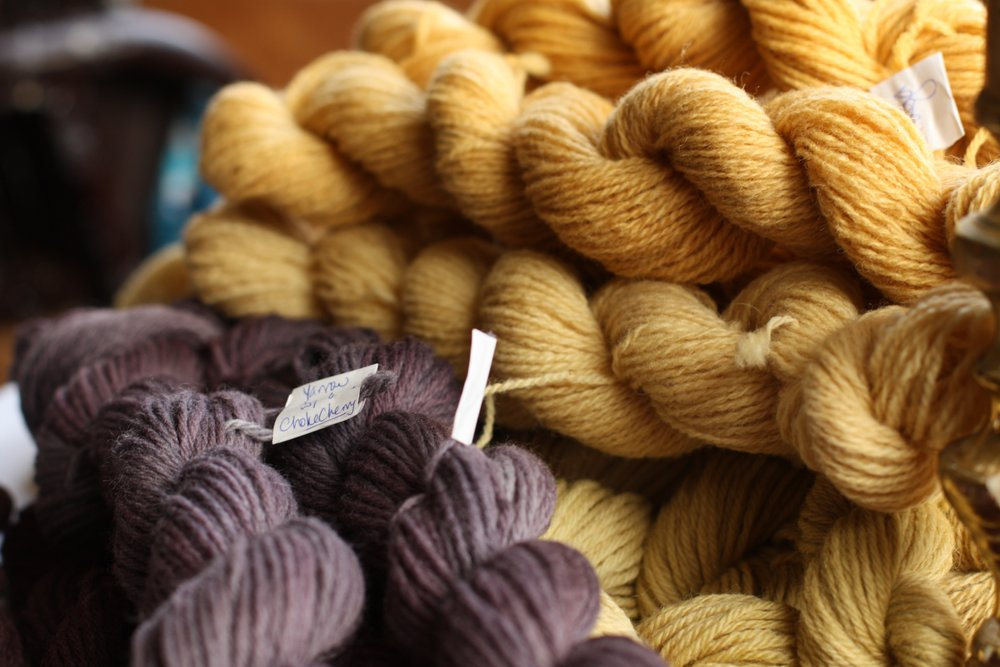 Wool dyed with chokecherry and chaga | 14 Mile Farm Handweaving and Homesteading in Alaska