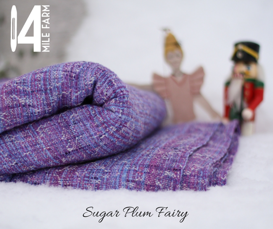 Sugar Plum Fairy in the snow with a Nutcracker figurine and a ballerina doll | 14 Mile Farm Handweaving and Homesteading