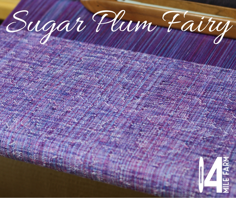 Sugar Plum Fairy showcases a large lacy Bethlehem Star motif |14 Mile Farm Handweaving and Homesteading
