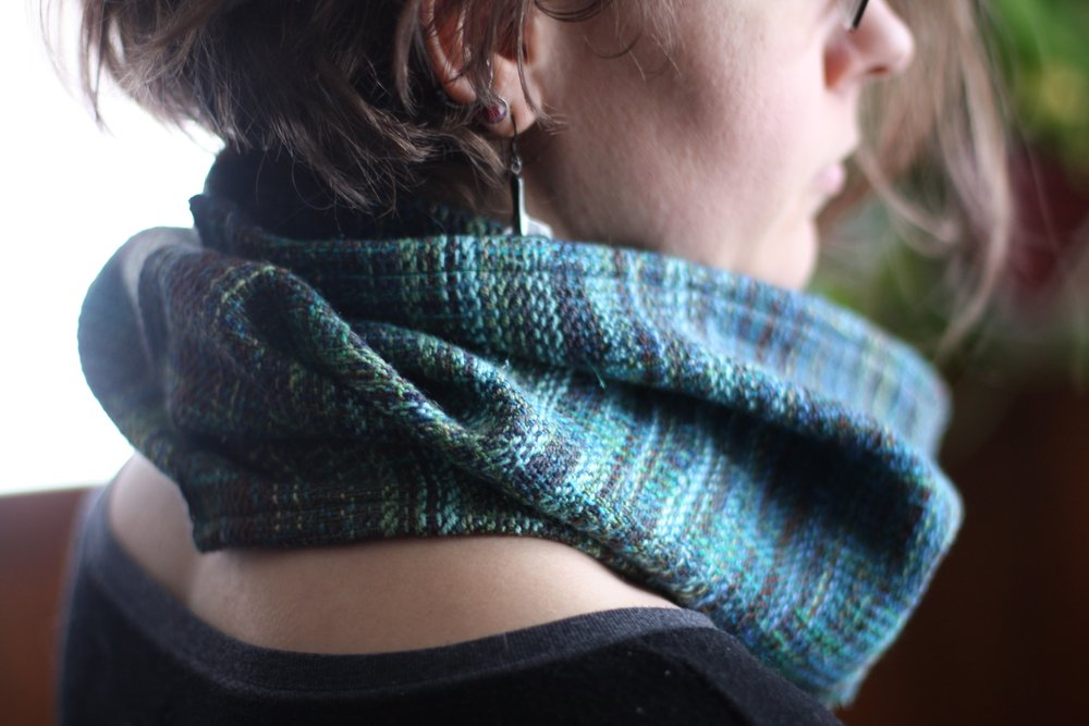 Long staple Egyptian cotton warp and weft make for very soft neckwear! | 14 Mile Farm Handweaving and Homesteading in Alaska