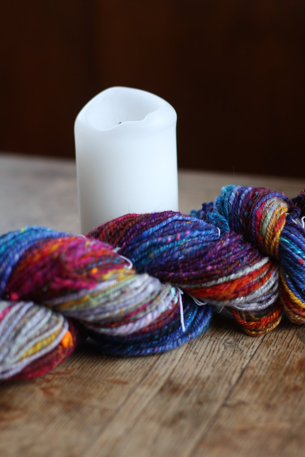 Worsted weight handspun yarn needs a pattern!  Do you have any recommendations?
