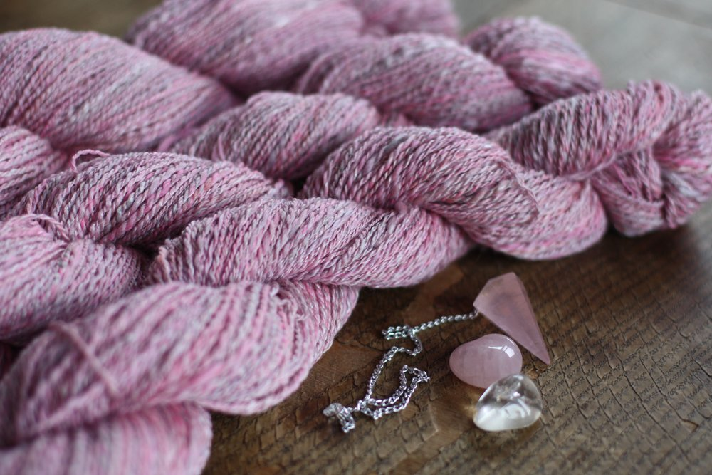 Over 1,300 yards of handspun merino/rose yarn in variegated shades of pink went into this piece | 14 Mile Farm Handweaving and Homesteading