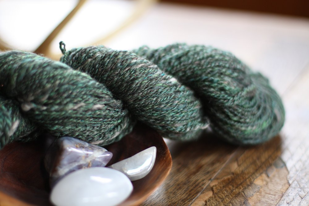 Hand spun Serpentine Yarn | 14 Mile Farm Handweaving and Homesteading