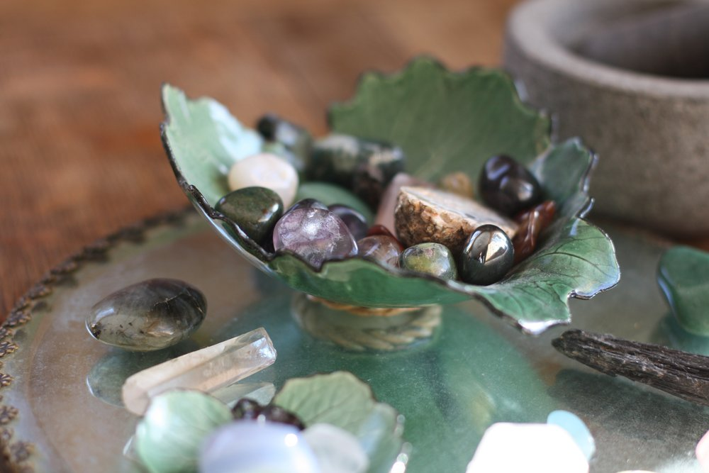 Healing crystals and stones | 14 Mile Farm Handweaving and Homesteading