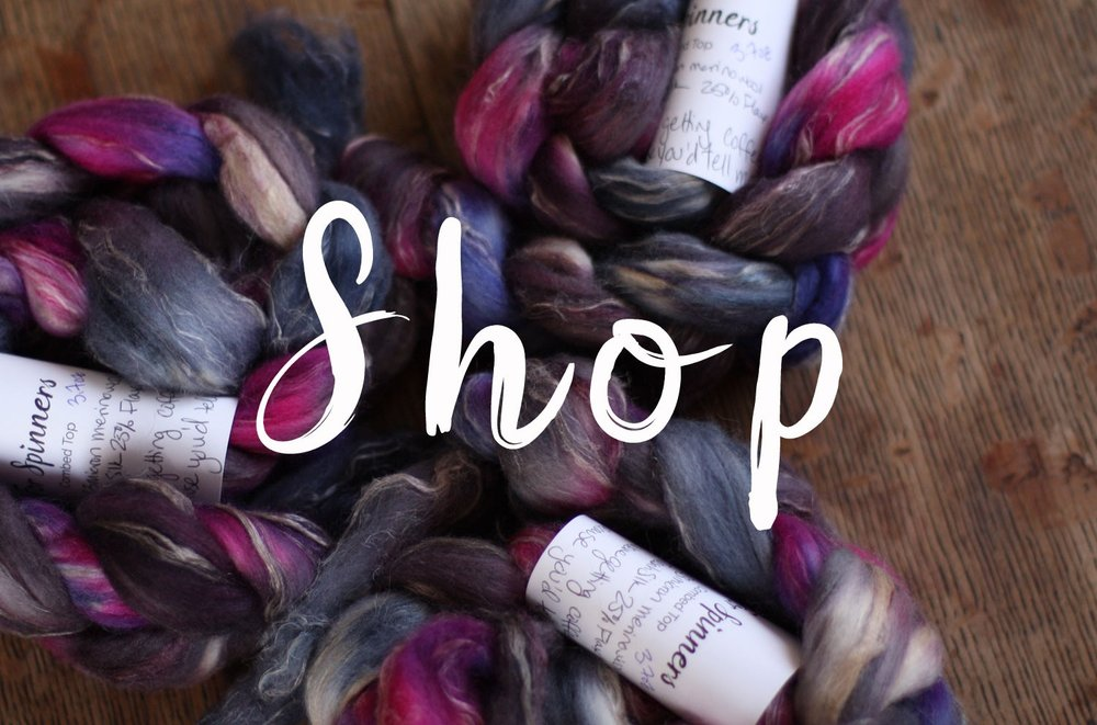 Visit the 14 Mile Farm Shop for knitting yarns, spinning fiber, and handwoven goods to bring beauty to your days