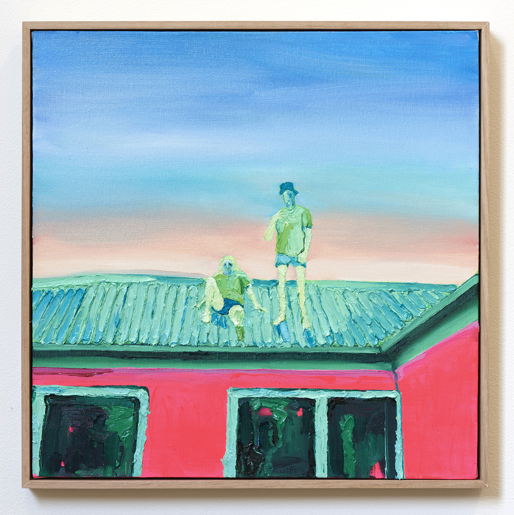 Roof Party  2015 Oil and Acrylic on Canvas  Photo: Henry Whitehead Imaging