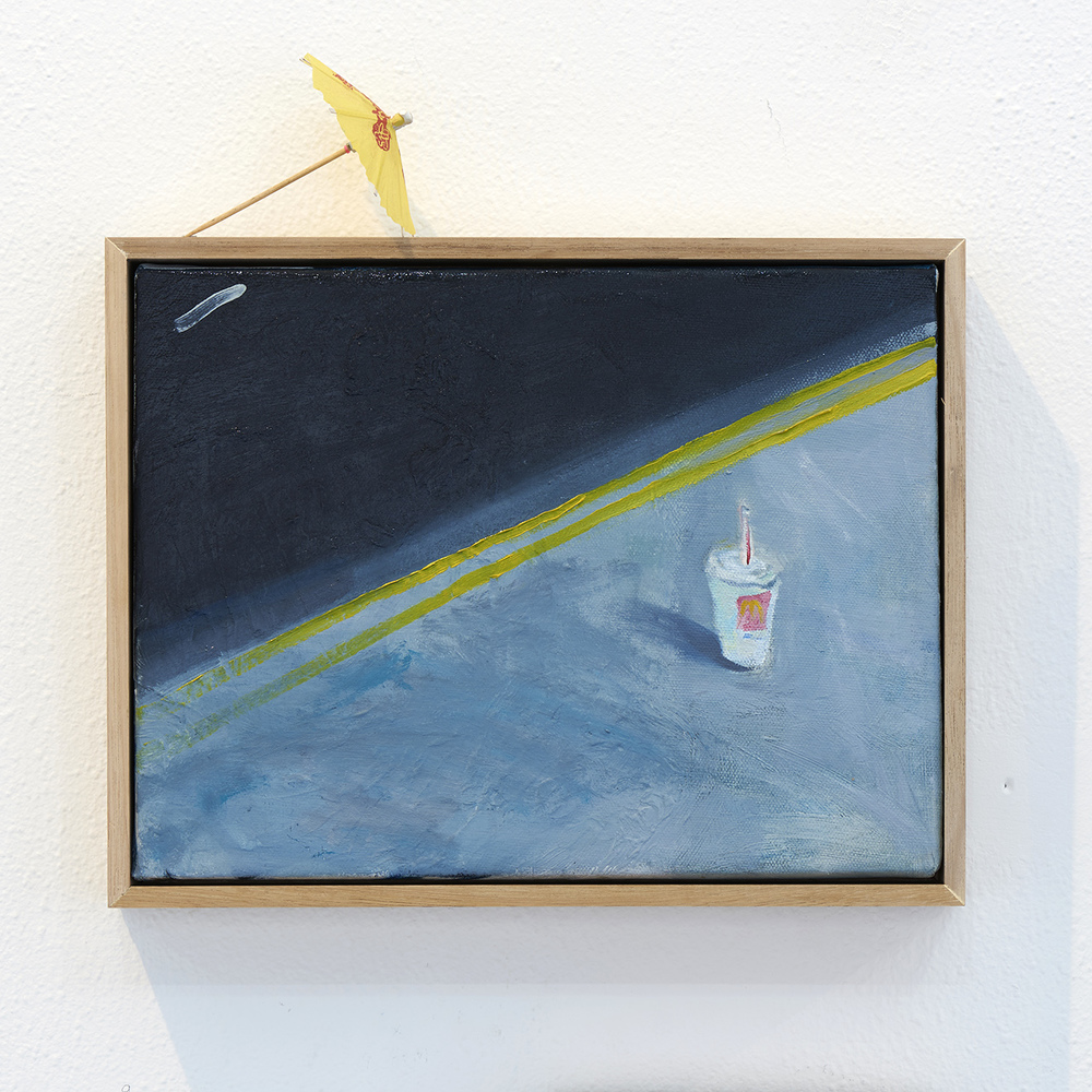 Still Life  2015 Oil on Canvas, Cocktail Umbrella  Photo: Henry Whitehead Imaging