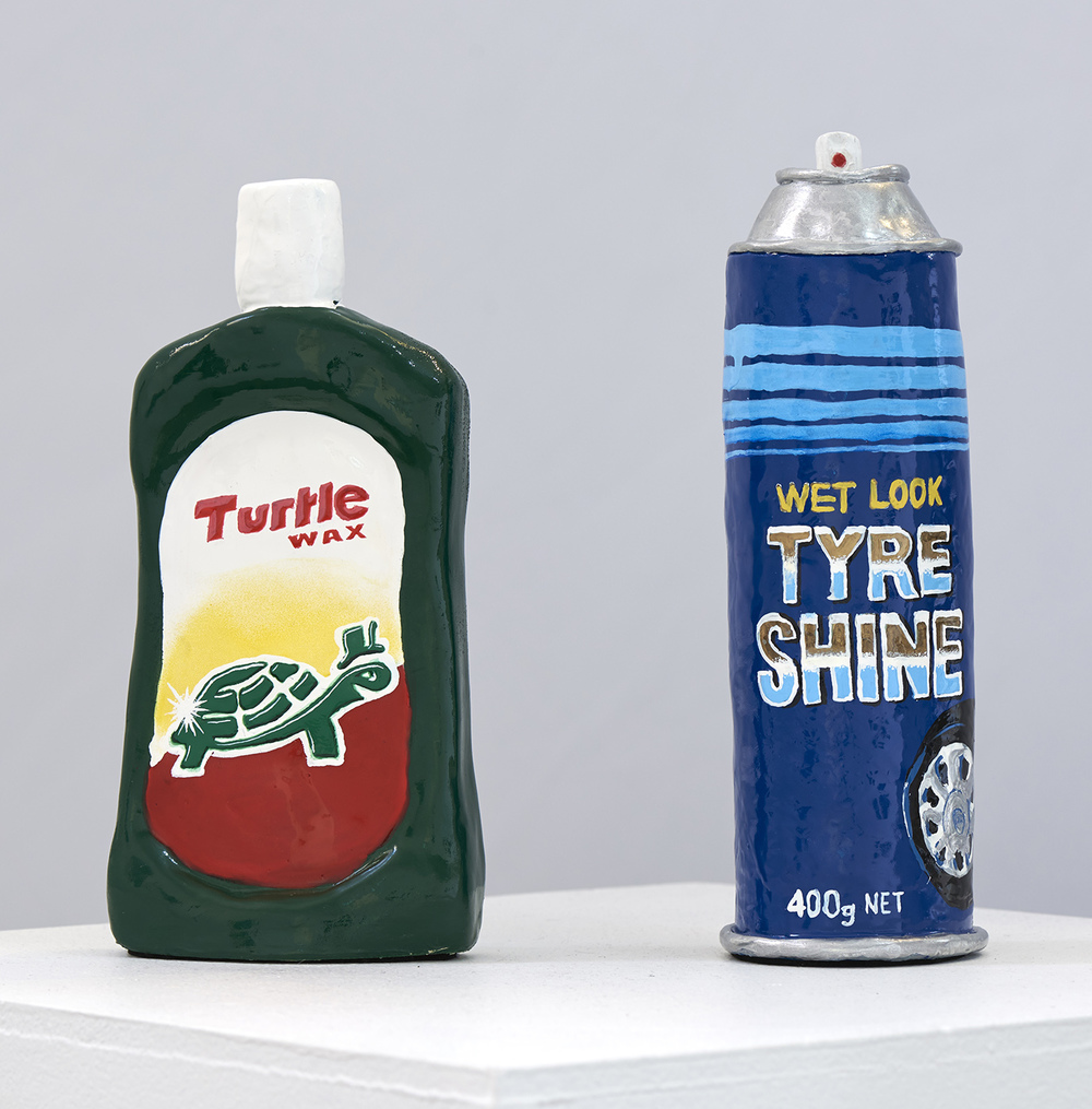 Turtle Wax and Tyre Shine  2015 Air Dry Clay and Enamel  Photo: Henry Whitehead Imaging
