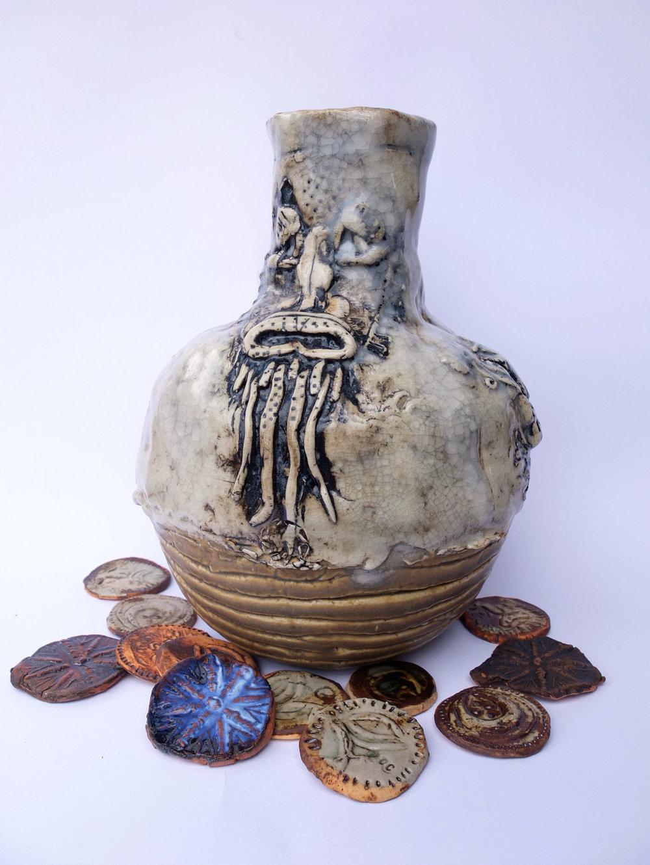Greybeard Jug,  Stoneware, glaze