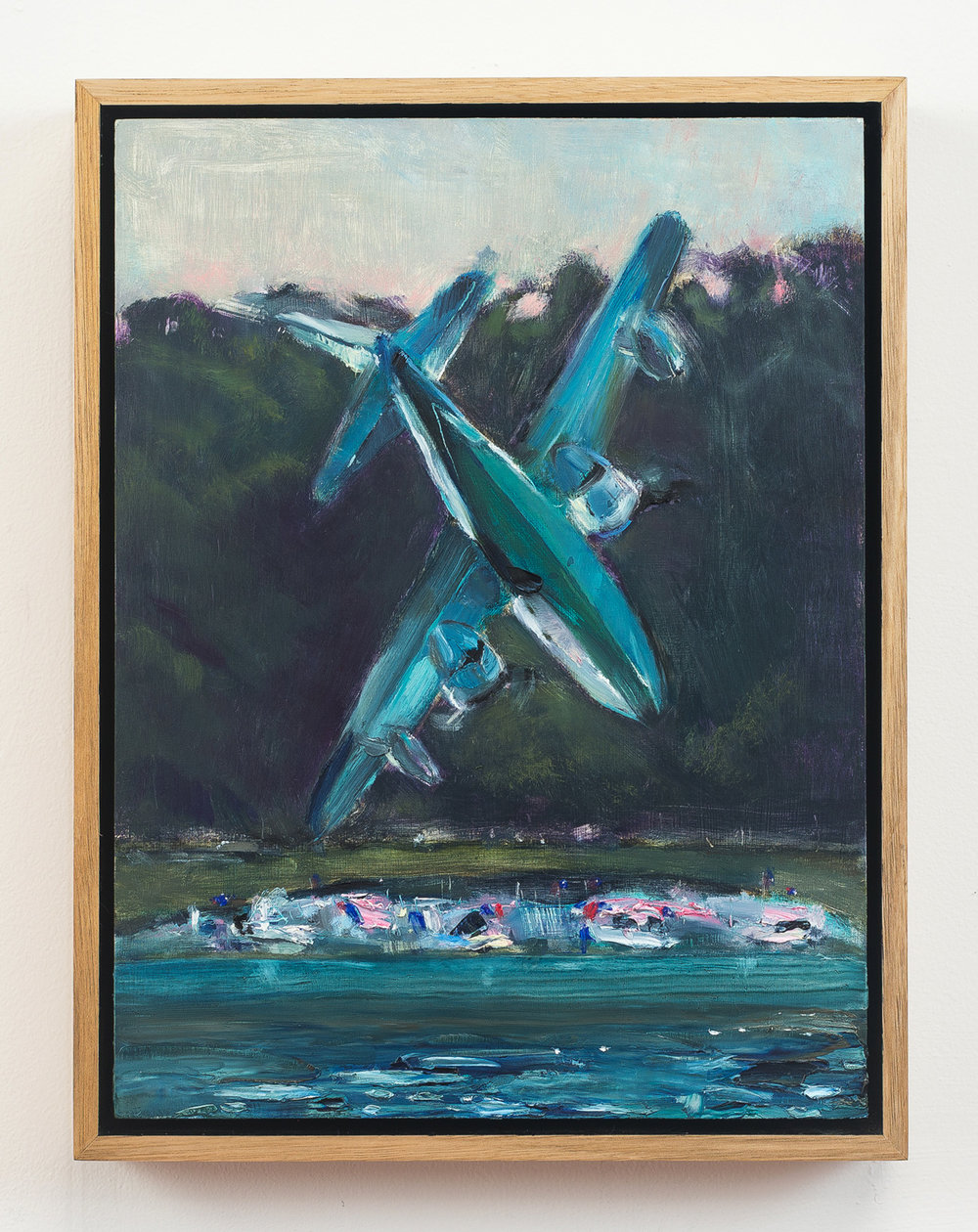Plane  2018 Oil on Wood, 33 x 25 cm  Photo: Ethan Blackburn