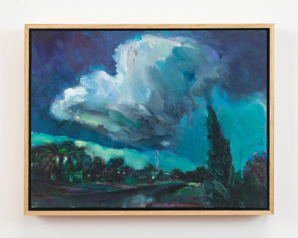 Supercell  2018 Oil on Wood, 33 x 43 cm  Photo: Ethan Blackburn