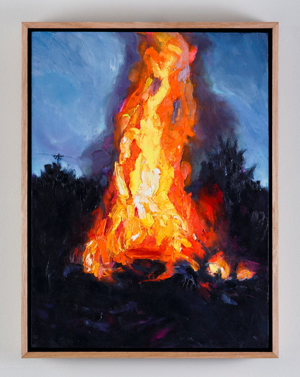 Beacon  2018 Oil on Wood  Daniel Grant