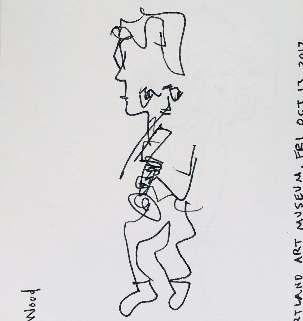 Noah plays trumpet.