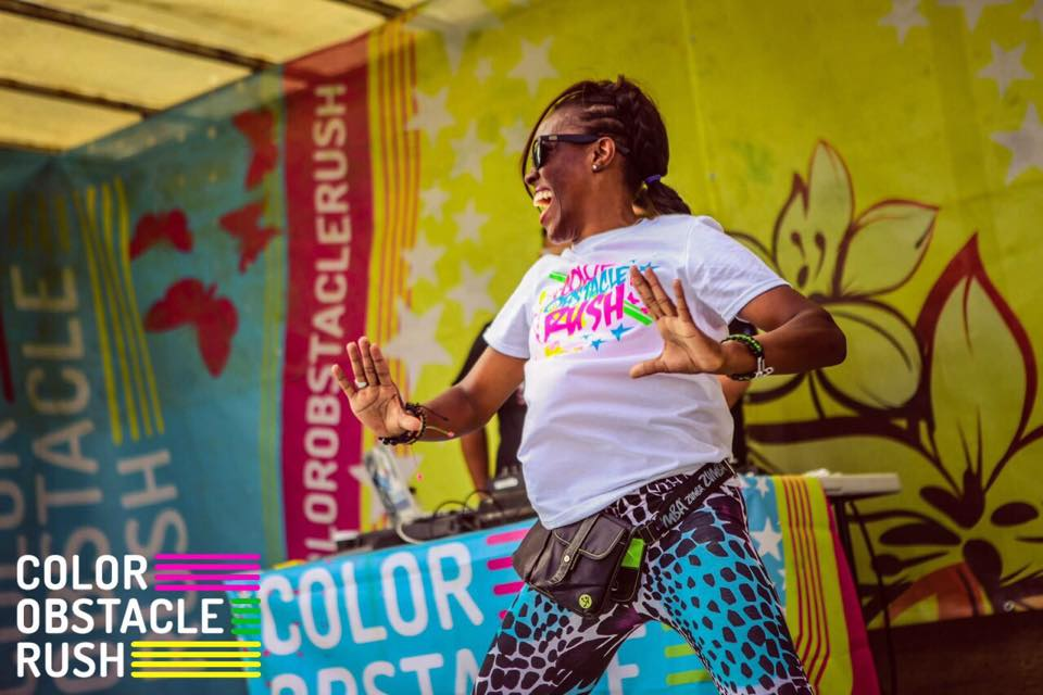 Sylvia recently became part of the Colour Run team, warming up the crowd at all of their events this summer across the UK!