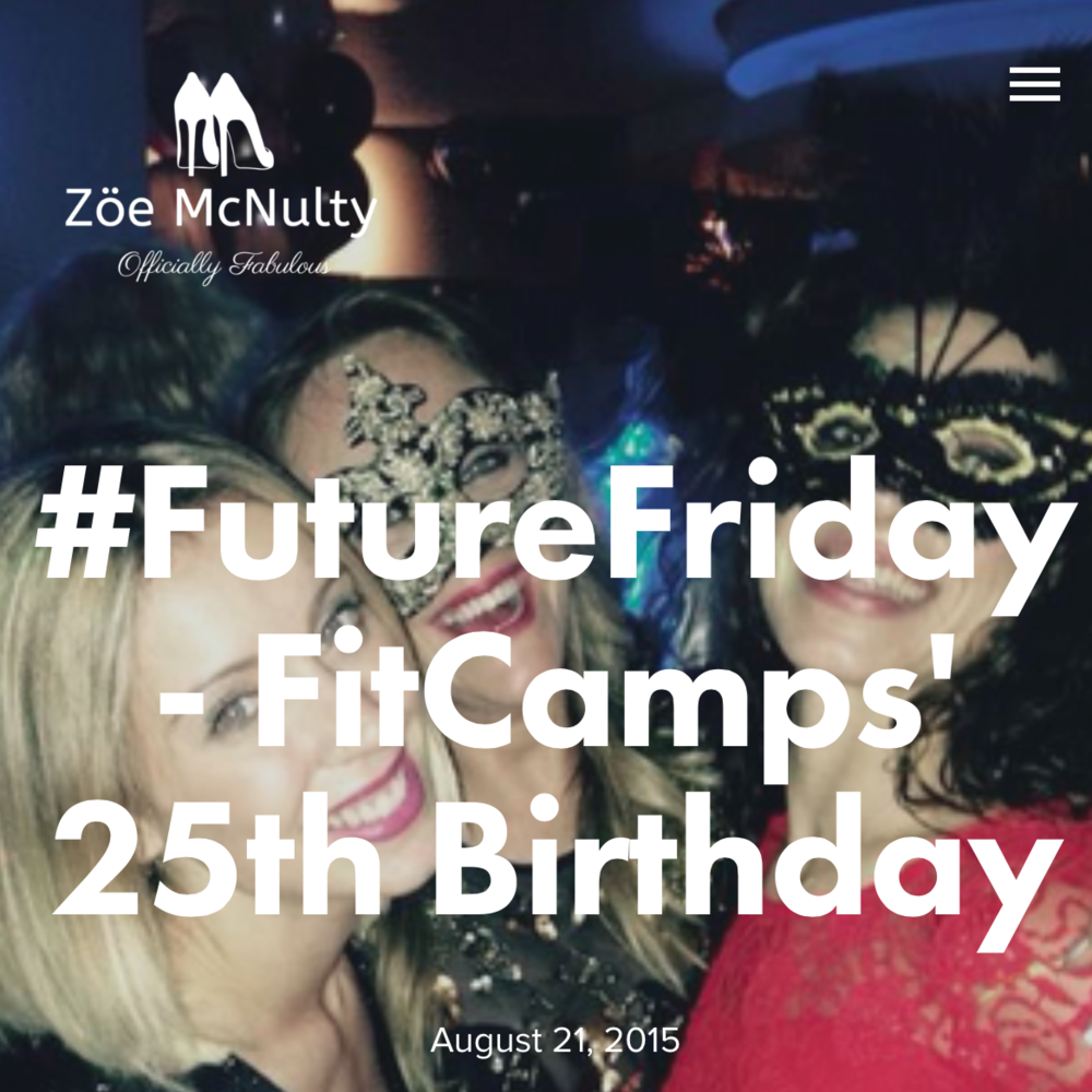 Presenting at FitCamps 25th Birthday, 13th-15th November