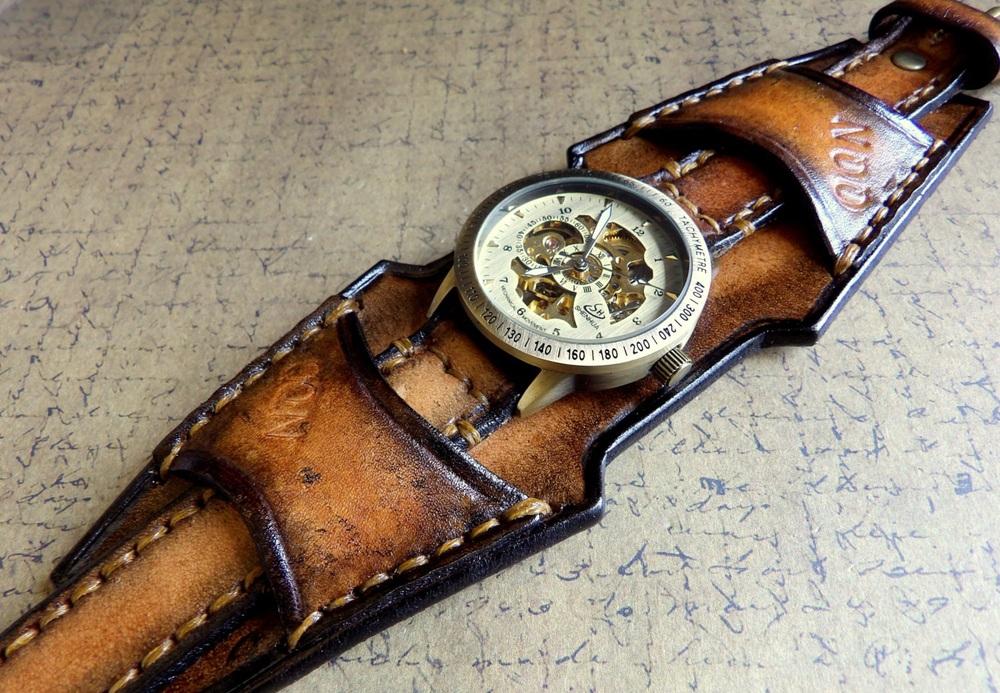 leather watch men
