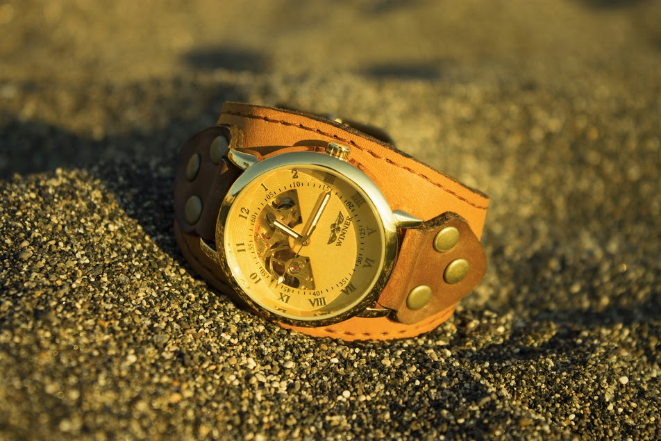 affordable golden watch