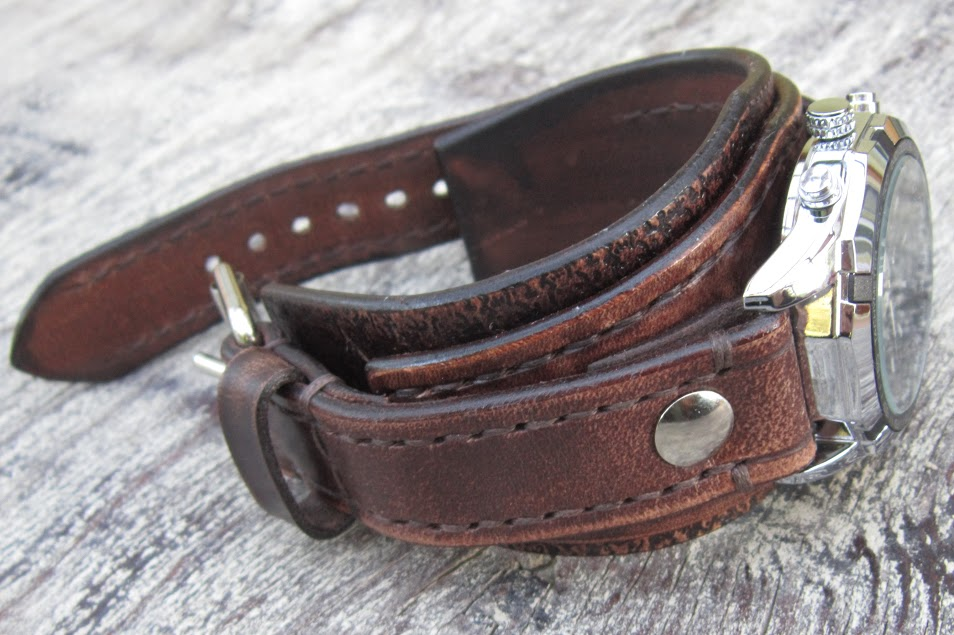 leather cuff watches